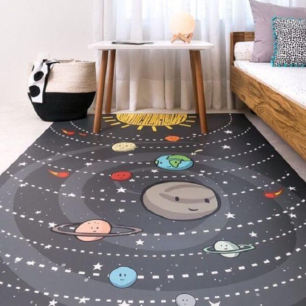 Tapete emborrachado com desenho animado para quarto infantil