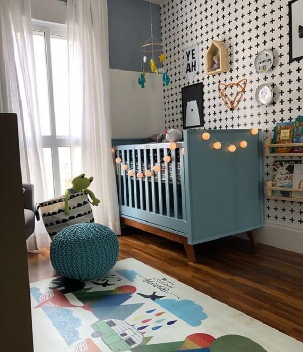 Tapete emborrachado com desenho infantil para quarto de bebê