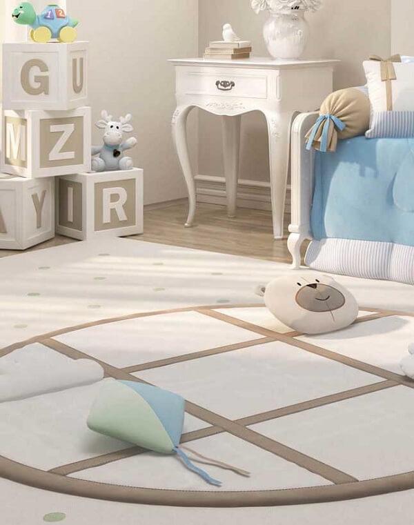 Tapete emborrachado com espessura maior para quarto de bebê