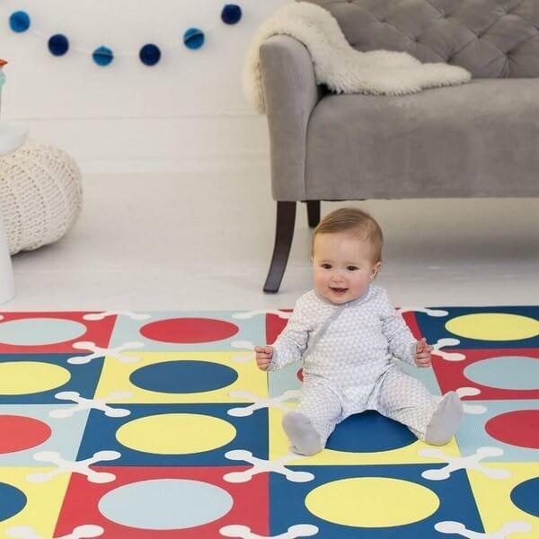 Tapete emborrachado para bebê