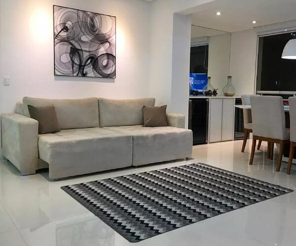 Tapete emborrachado para sala de estar