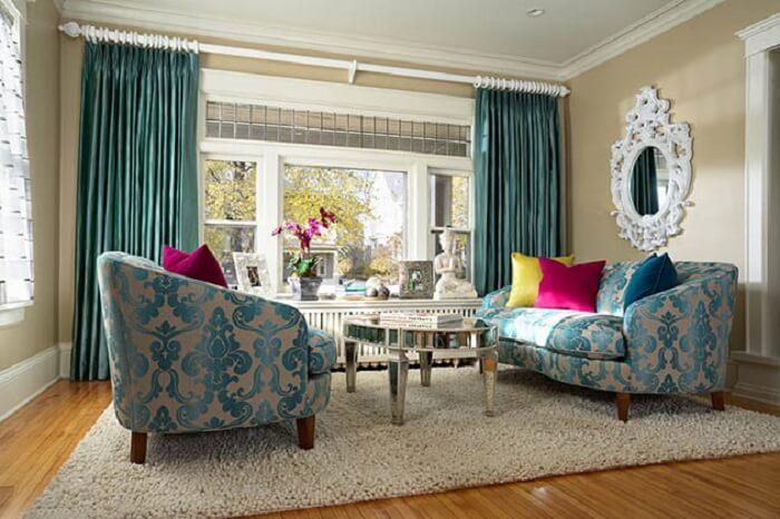 Tecido para sofá jacquarda