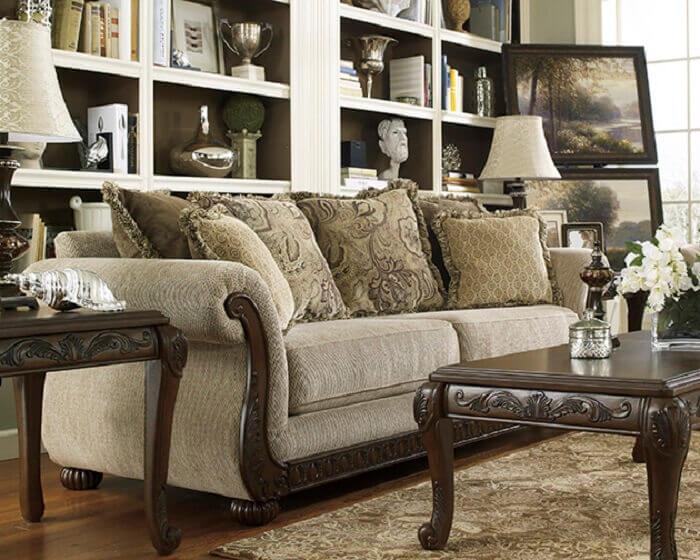 Tecido para sofá chenille seguindo o estilo vintage do ambiente