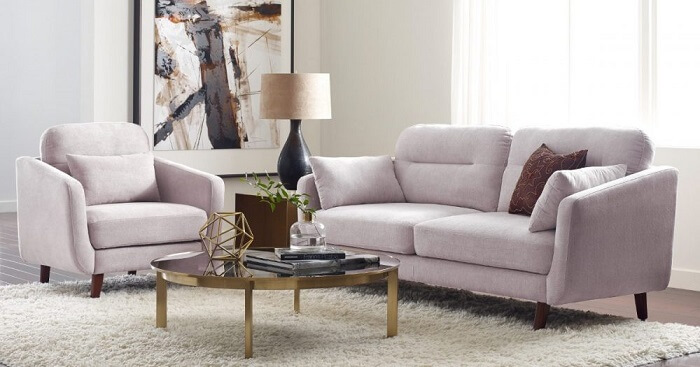 Tecido para sofá suede cor de gelo