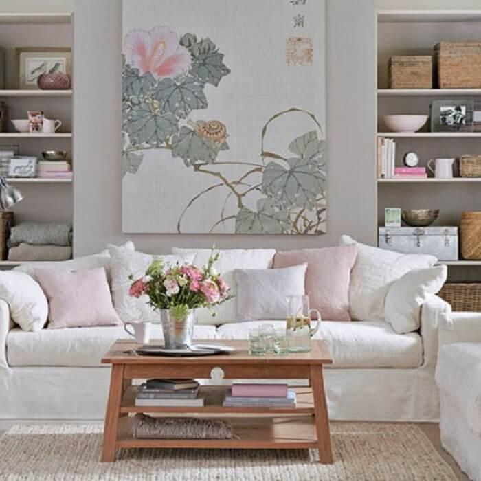 Tecido para capa de sofá branca