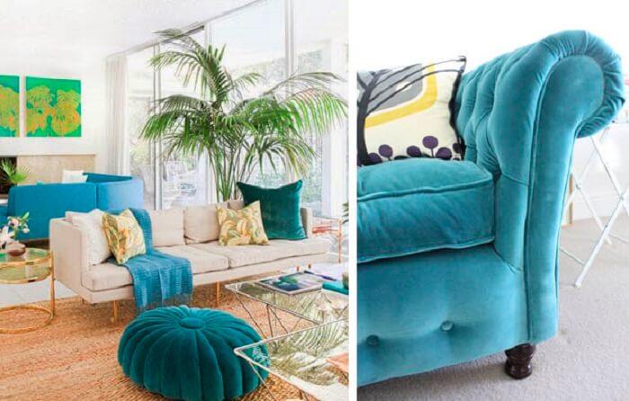 Tecido para sofá de veludo