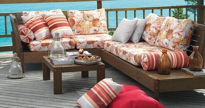 Tecido para sofá impermeável para área externa