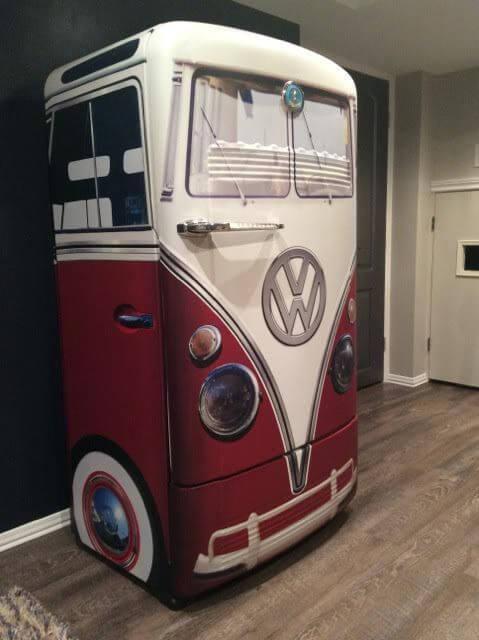 adesivo geladeira retrô vermelho e branco