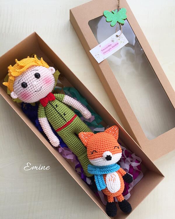 """Personagens do filme """"O Pequeno Príncipe"""" feitos com a técnica de amigurumi"""