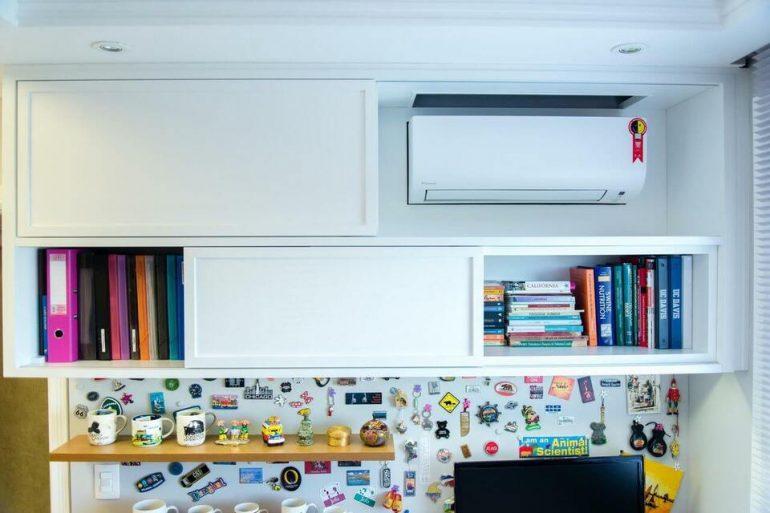 ar condicionado split - dormitório e home office - Studio Bene Arquitetura
