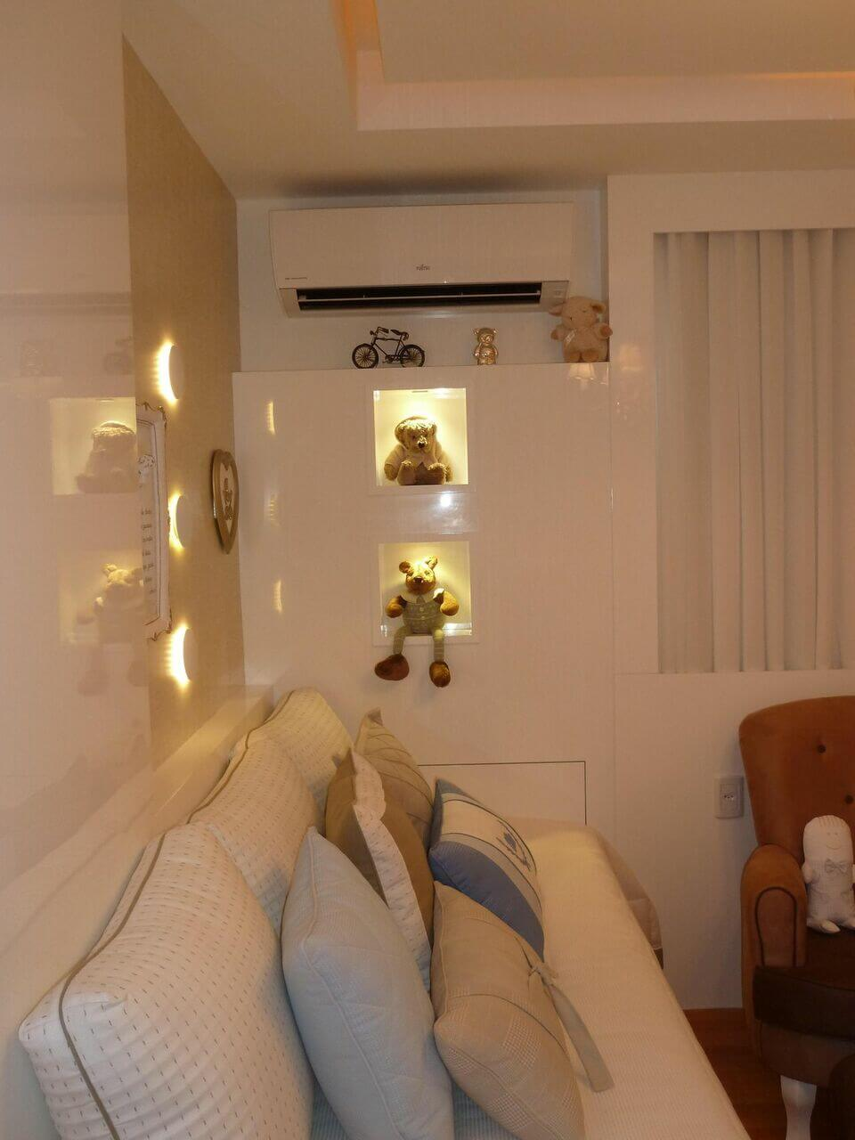ar condicionado split - quarto de bebê com ar condicionado