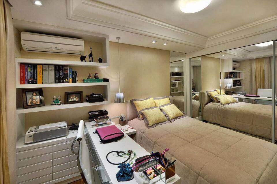 ar condicionado split - quarto de casal com ar condicionado