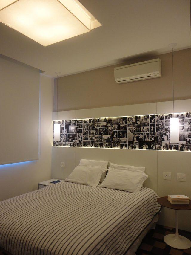 ar condicionado split - quarto de casal simples com ar condicionado