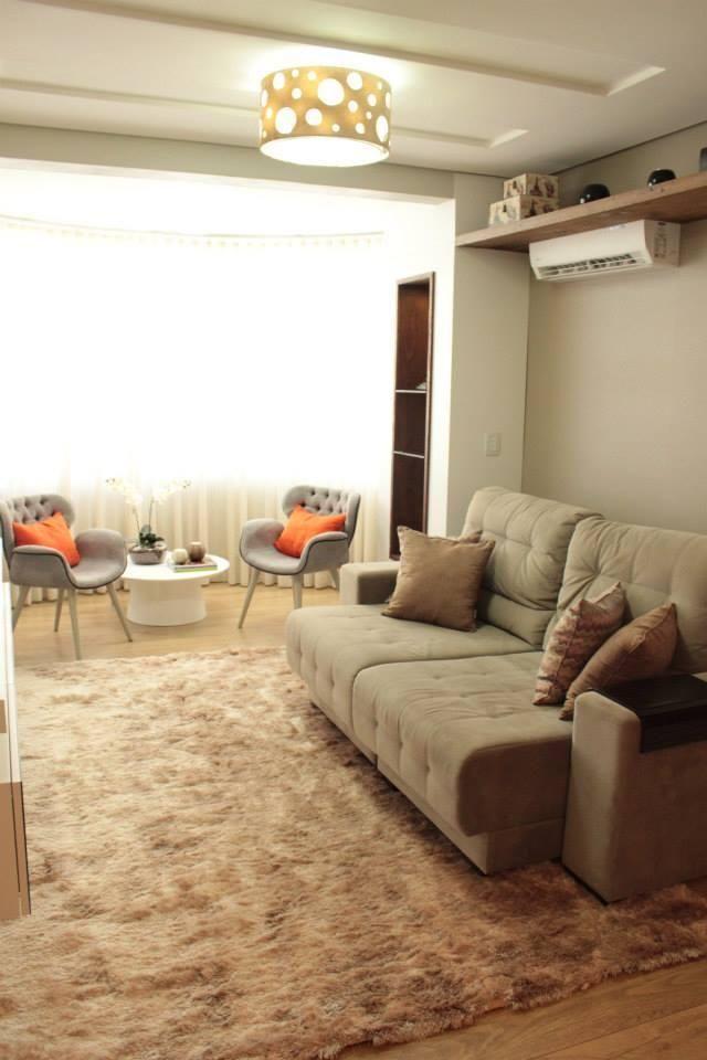 ar condicionado split - sala de estar com ar condicionado