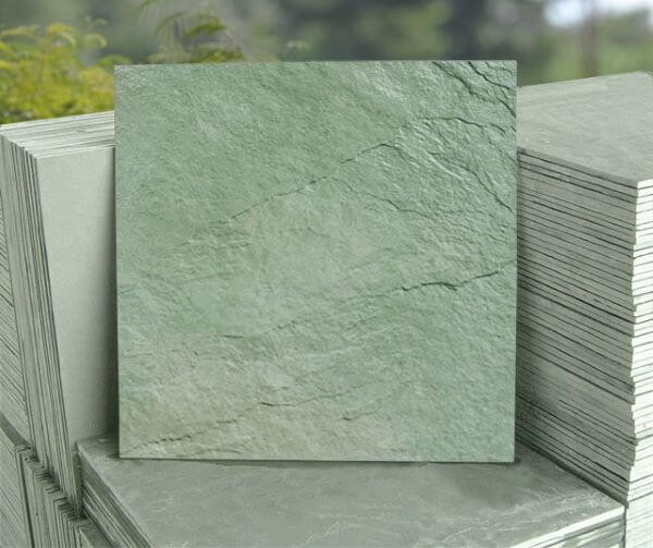 Piso ardósia verde