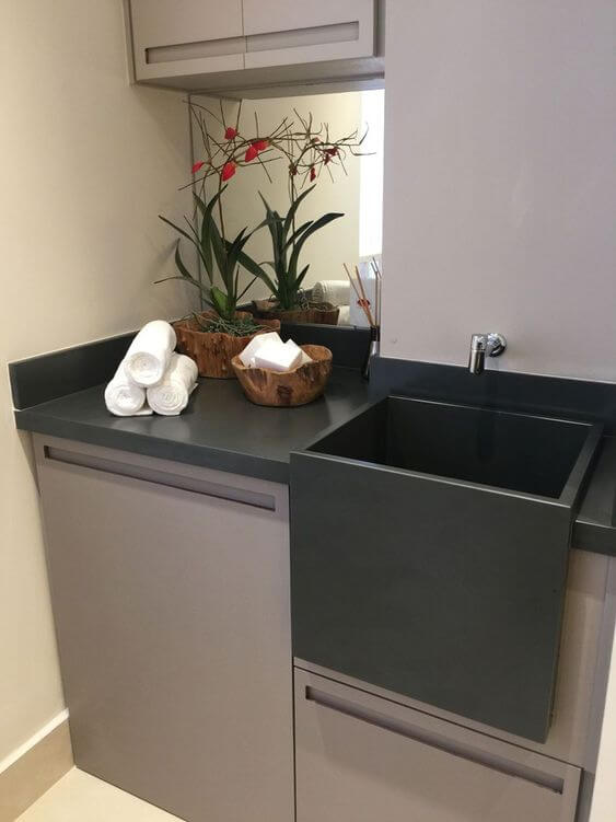 ardósia na lavanderia