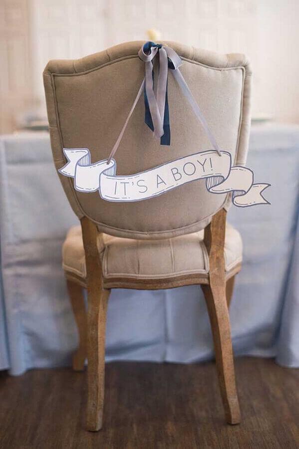cadeira personalizada para decoração de chá de fralda  Foto 100 Layer Cakelet