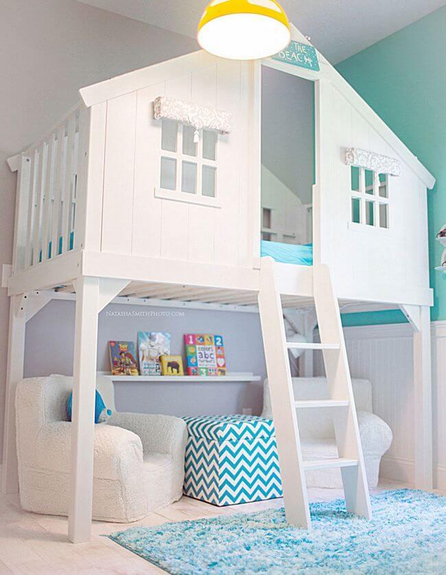 Cama casinha branca