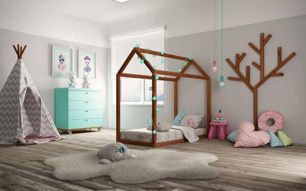 Capriche na decoração do quarto com cama casinha infantil