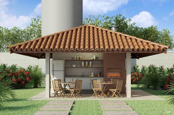 churrasqueira com telha colonial