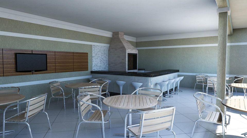 churrasqueira de tijolo - área externa com churrasqueira de mármore