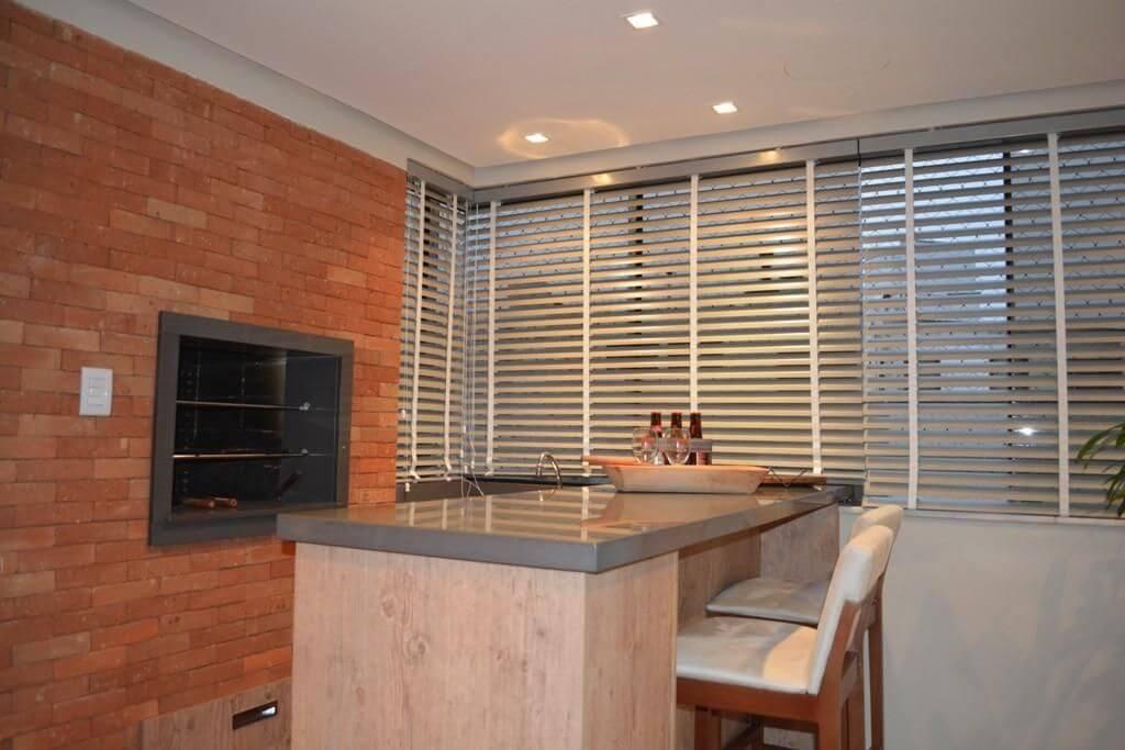 churrasqueira de tijolo - churrasqueira com acabamento de tijolo vermelho