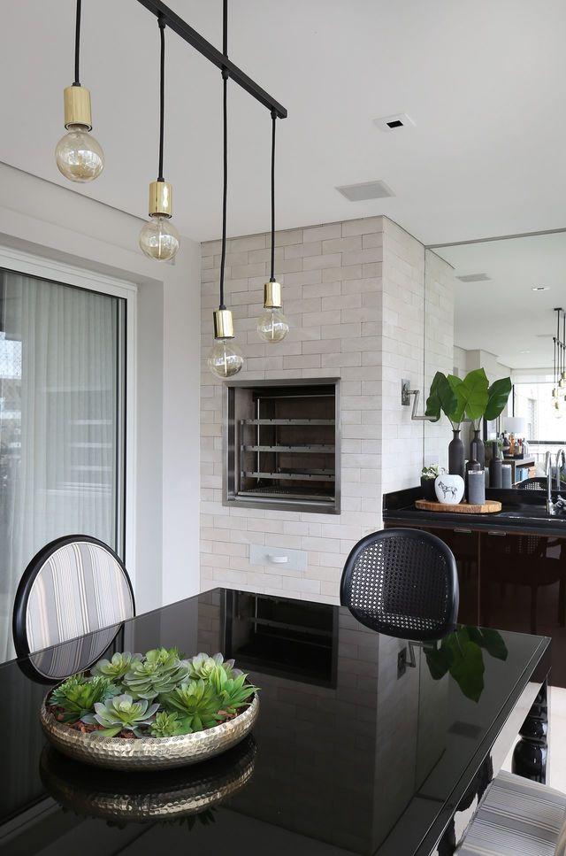 churrasqueira de tijolo - churrasqueira com tijolos brancos