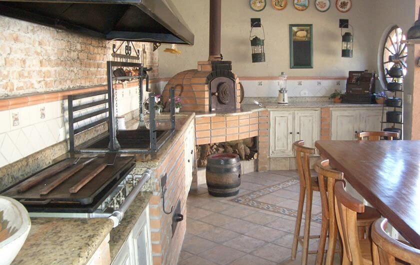 churrasqueira de tijolo - parede de tijolinho em churrasqueira