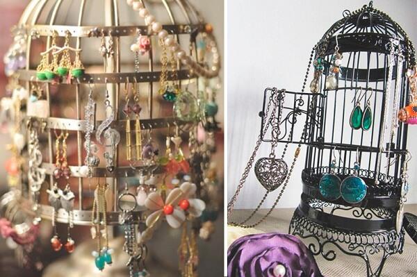 Organize suas bijuterias em gaiolas decorativas