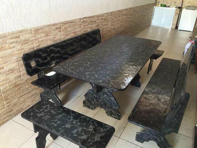 Conjunto de mesa de ardósia