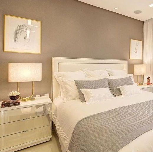 cor fendi - quarto com parede na cor fendi