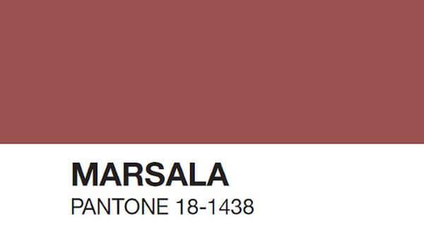 A cor marsala foi a cor do ano em 2015