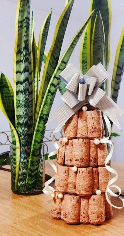 cortiça - árvore de natal de rolha e cortiça