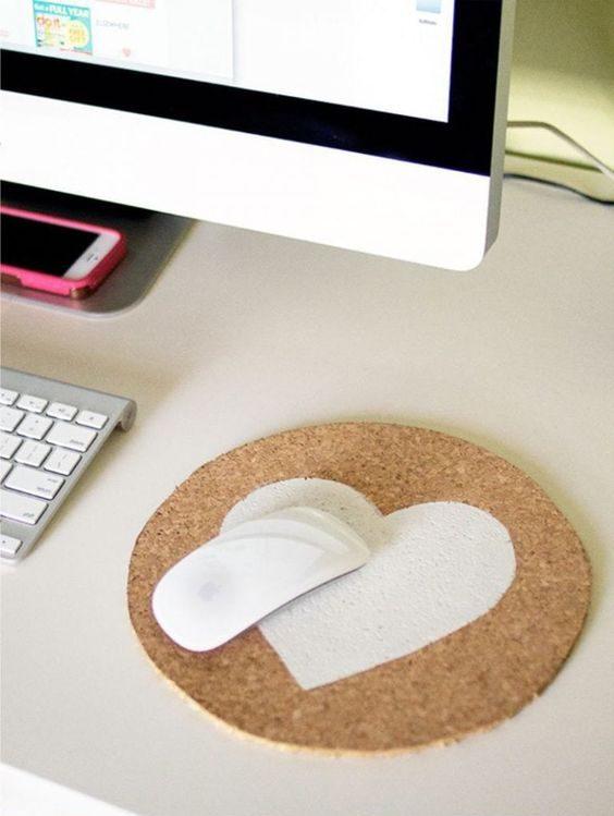 cortiça - mousepad de cortiça