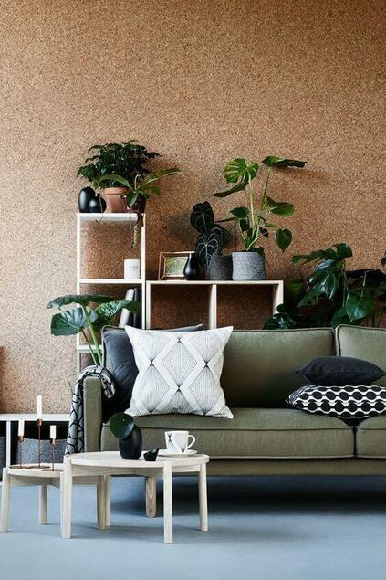cortiça - parede inteira de cortiça
