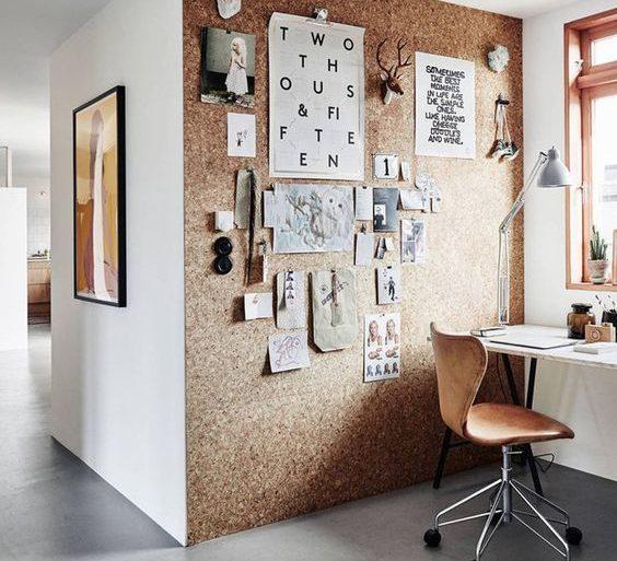 cortiça - parede revestida de cortiça - Prosa de Designer