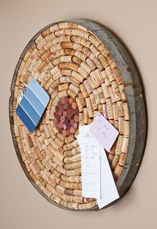 cortiça - quadro decorativo com rolhas de cotiça