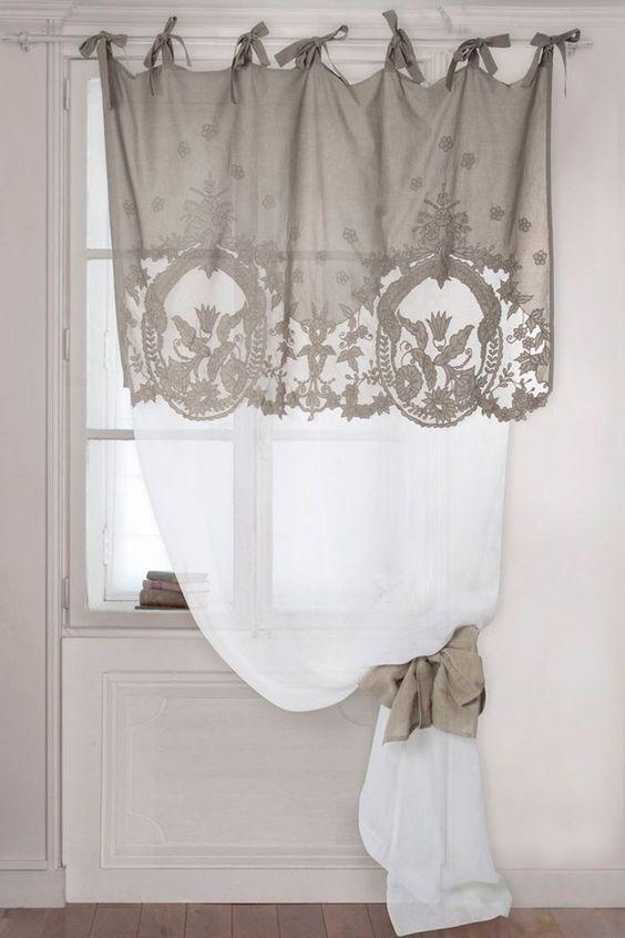 cortina de renda - cortina com detalhes em renda