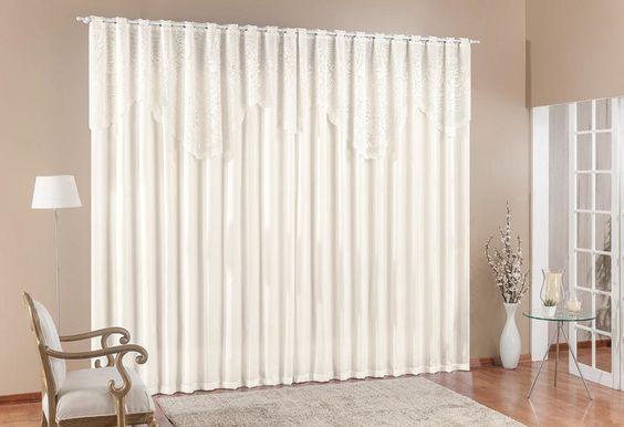 cortina de renda - cortina de renda amarelada para sala de estar