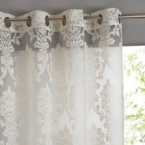 cortina de renda - cortina de renda branca - La Redoute Portugal