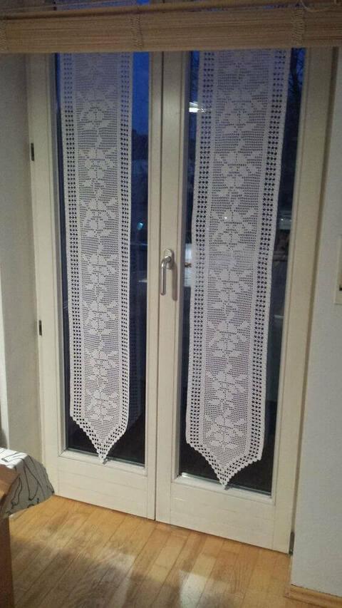cortina de renda - cortina de renda branca em porta