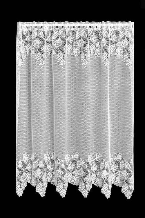 cortina de renda - cortina de renda com desenhos simples