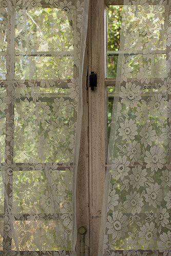 cortina de renda - cortina de renda com flores