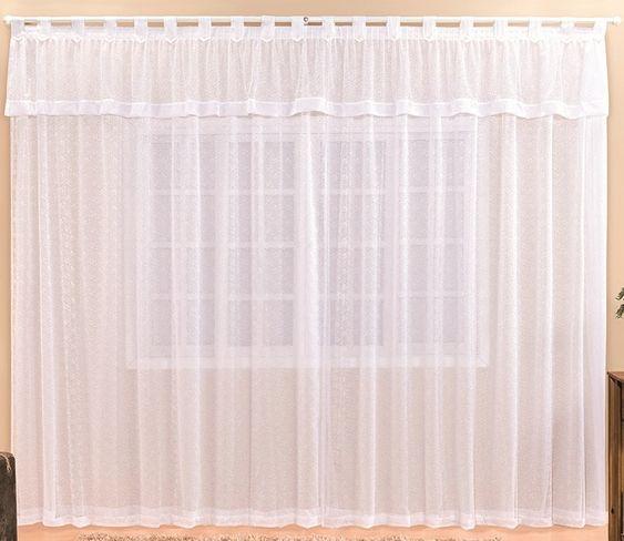 cortina de renda - cortina de renda grande branca