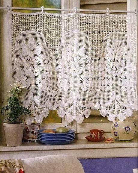 cortina de renda - cortina de renda para cozinha