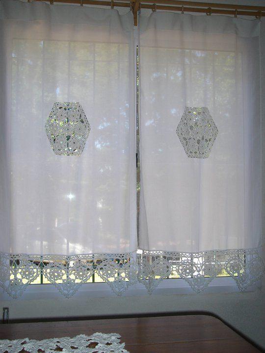 cortina de renda - cortina de renda para janela alta