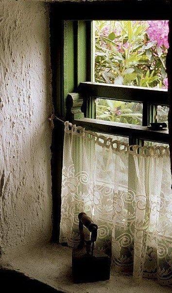 cortina de renda - cortina de renda pequena branca