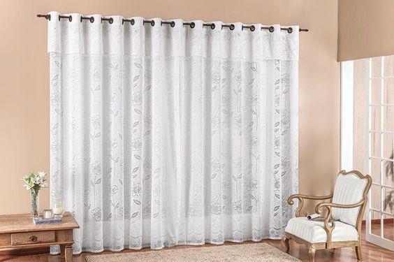 cortina de renda - cortina para sala
