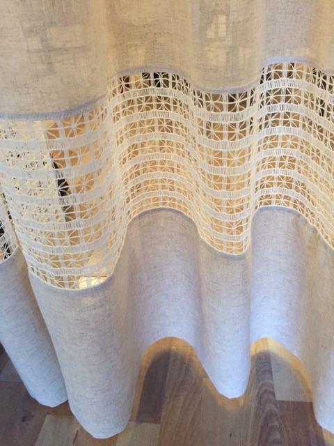 cortina de renda - detalhe de cortina com renda