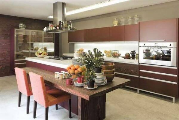 cozinha pode ficar ainda mais bonita na cor marsala